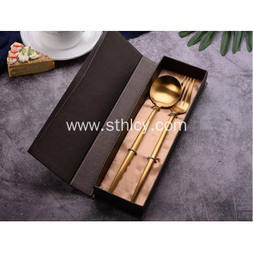 Stainless Steel Tableware Fork And Spoon Set
